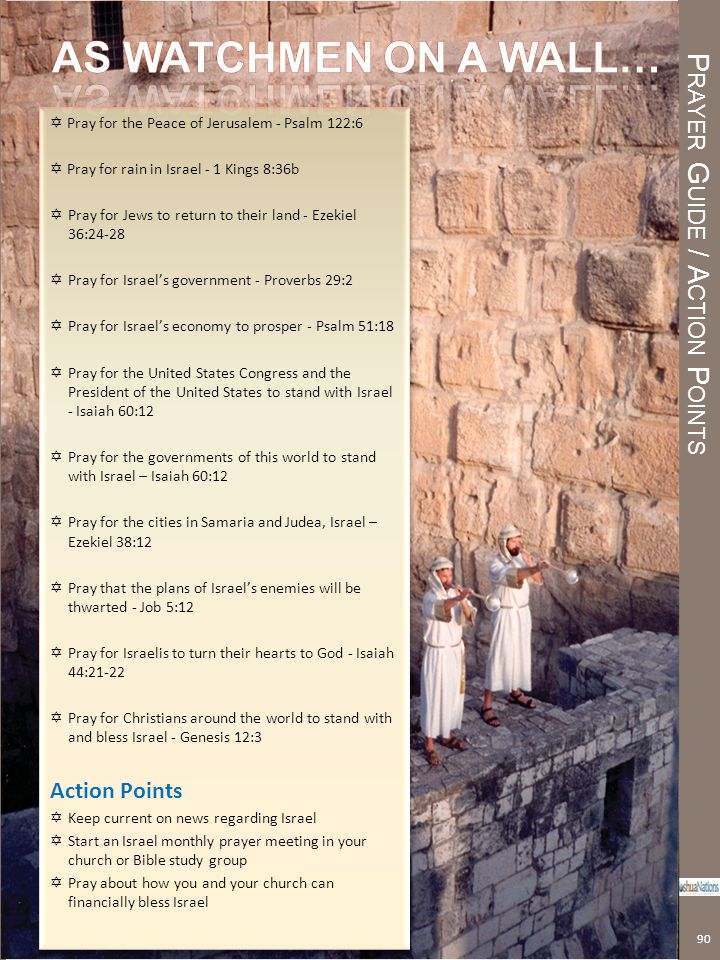 Prayer Guide / Action Points