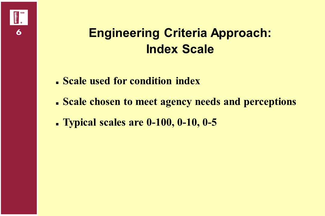 Engineering Criteria Approach: