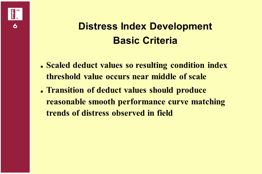 Distress Index Development