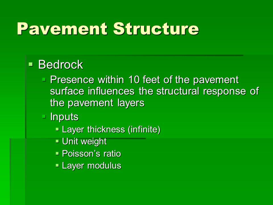 Pavement Structure Bedrock
