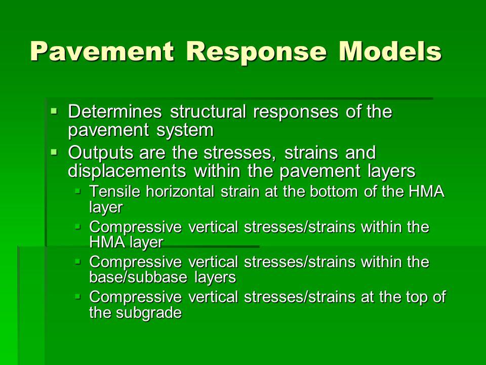 Pavement Response Models