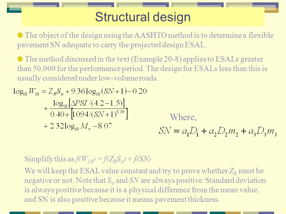 Structural design Where,