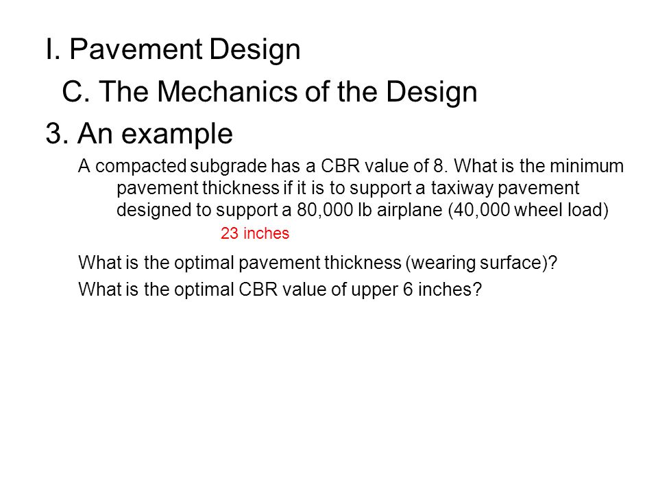 C. The Mechanics of the Design 3. An example