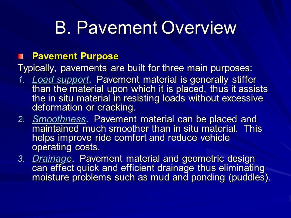 B. Pavement Overview Pavement Purpose