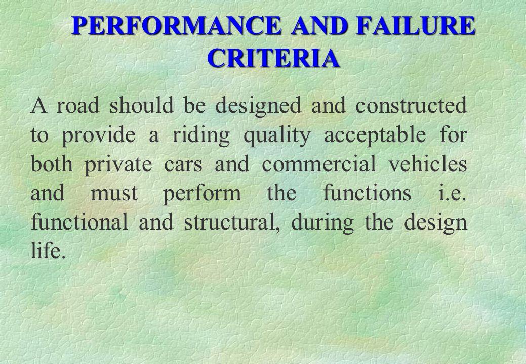 PERFORMANCE AND FAILURE CRITERIA
