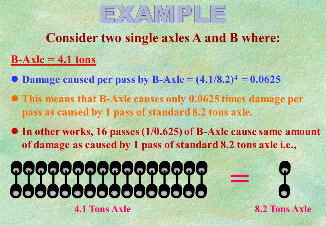 Consider two single axles A and B where: