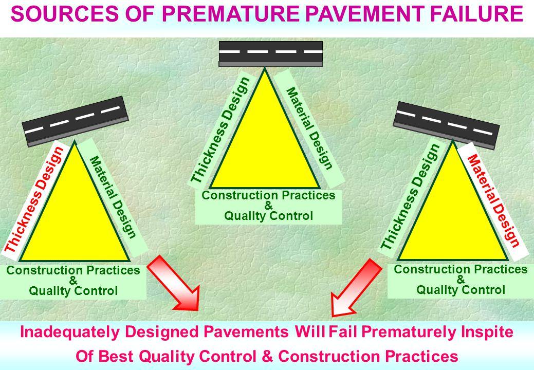 SOURCES OF PREMATURE PAVEMENT FAILURE