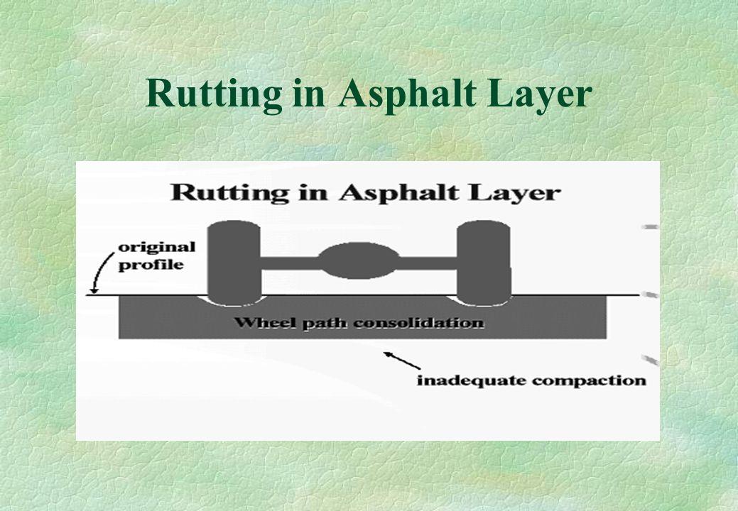 Rutting in Asphalt Layer