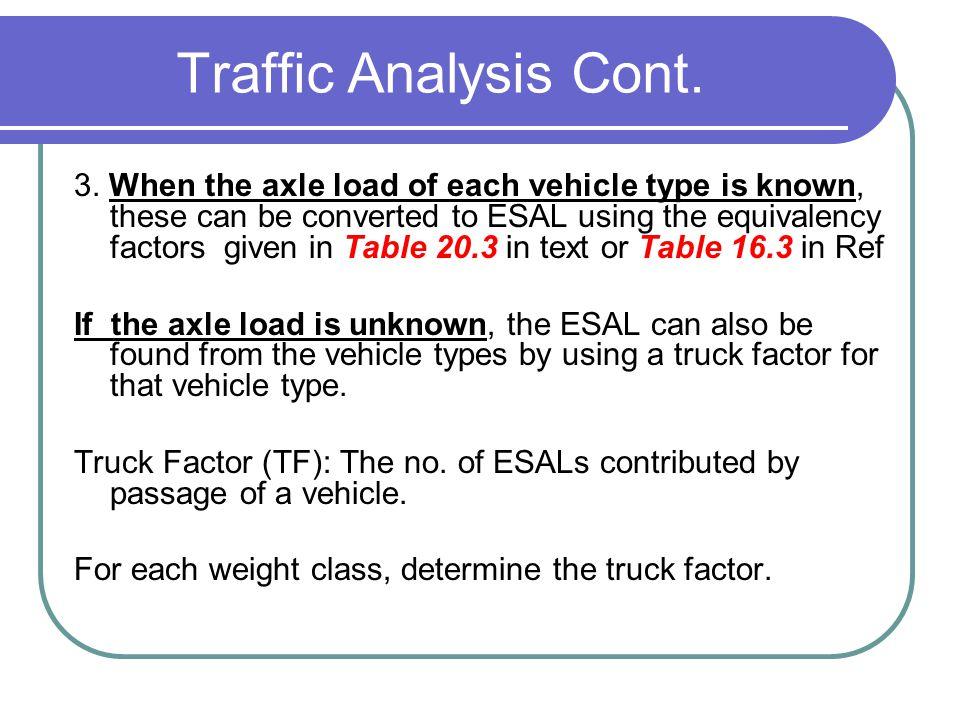 Traffic Analysis Cont.