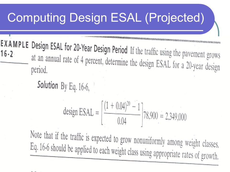 Computing Design ESAL (Projected)