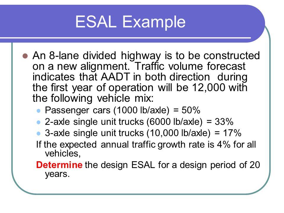 ESAL Example