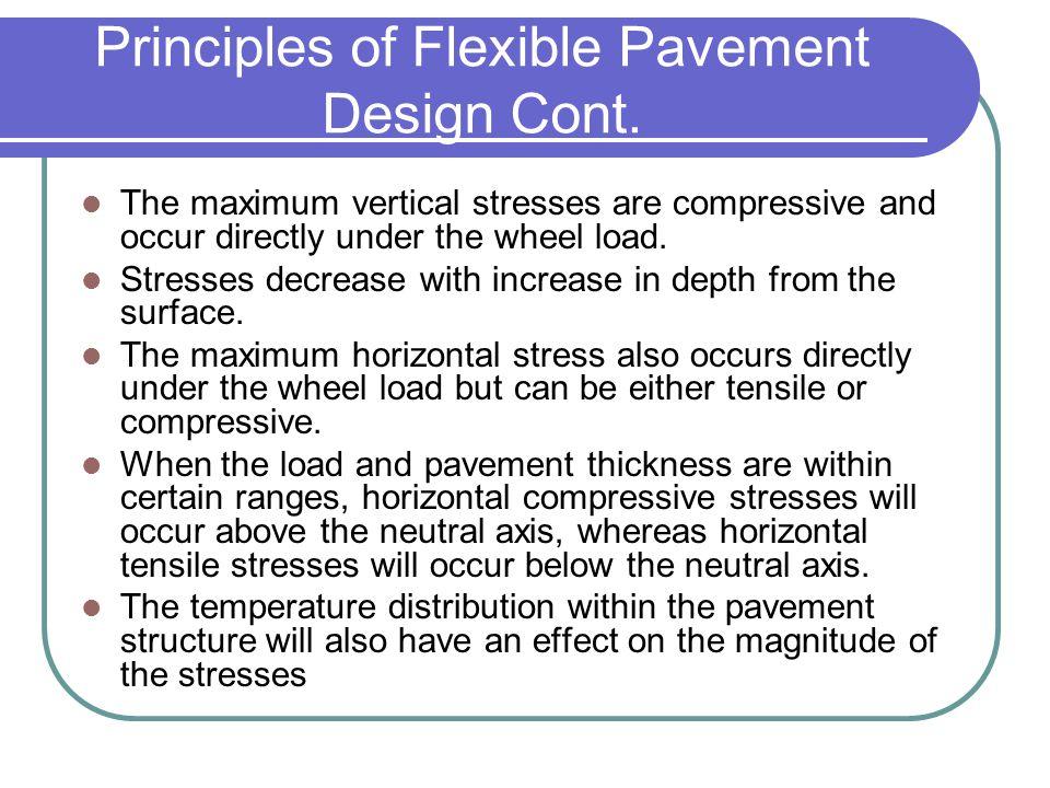 Principles of Flexible Pavement Design Cont.