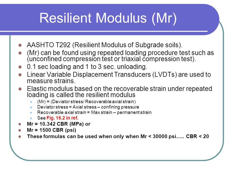 Resilient Modulus (Mr)