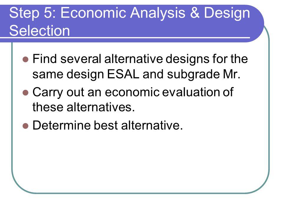 Step 5: Economic Analysis & Design Selection