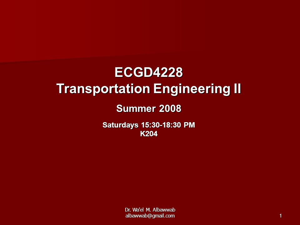 Transportation Engineering II
