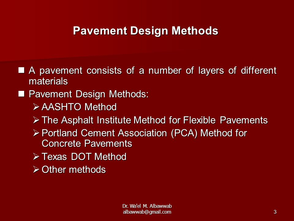 Pavement Design Methods