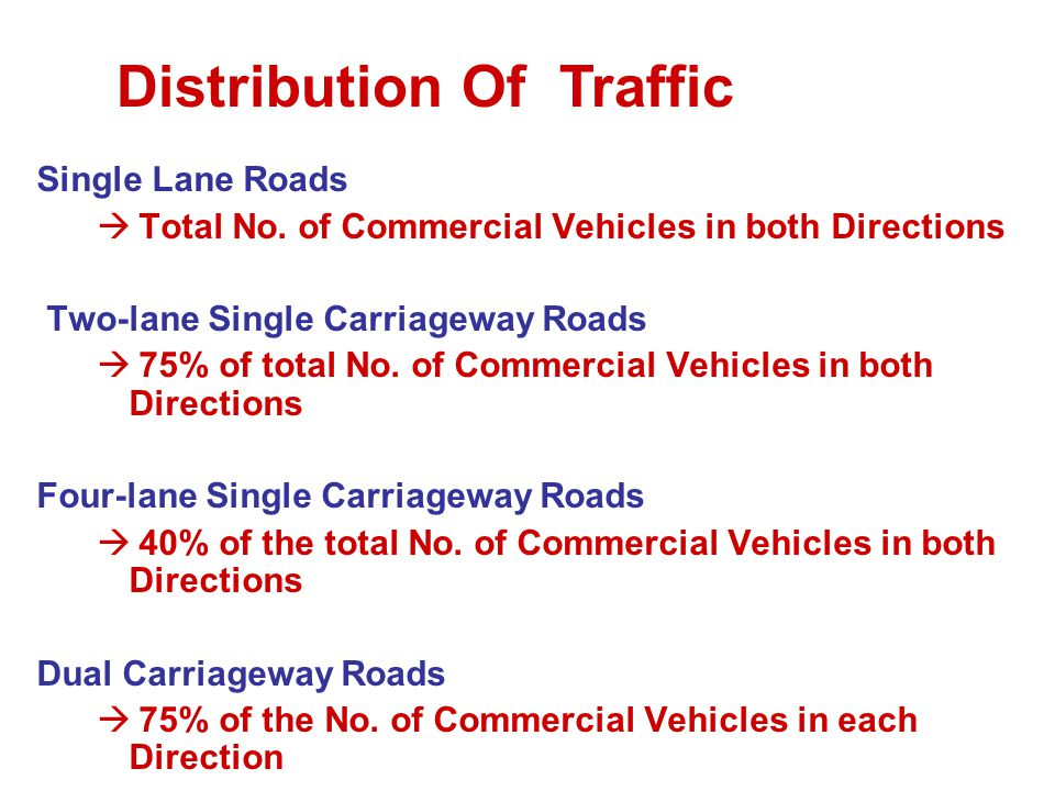 Distribution Of Traffic