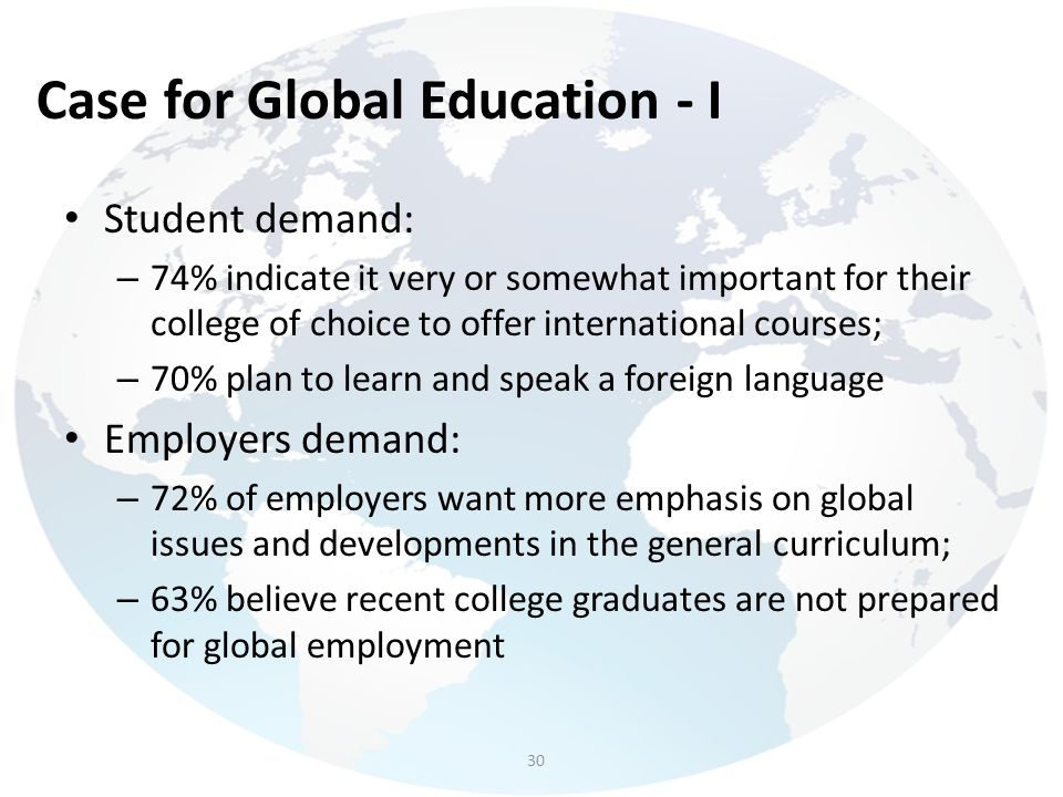 Case for Global Education - I