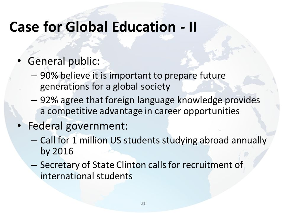 Case for Global Education - II