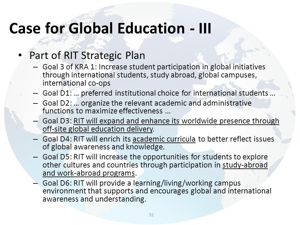 Case for Global Education - III
