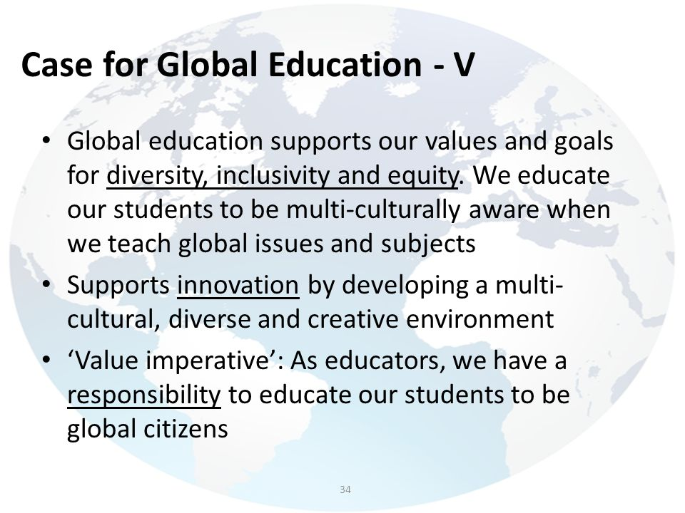 Case for Global Education - V