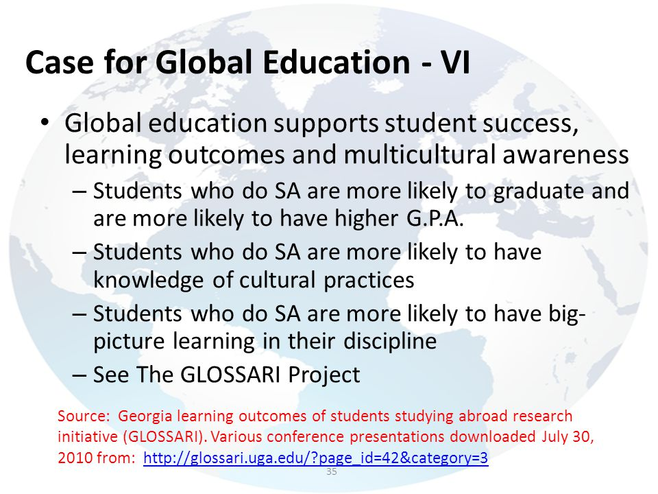 Case for Global Education - VI