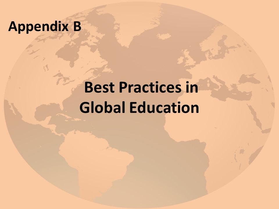 Best Practices in Global Education