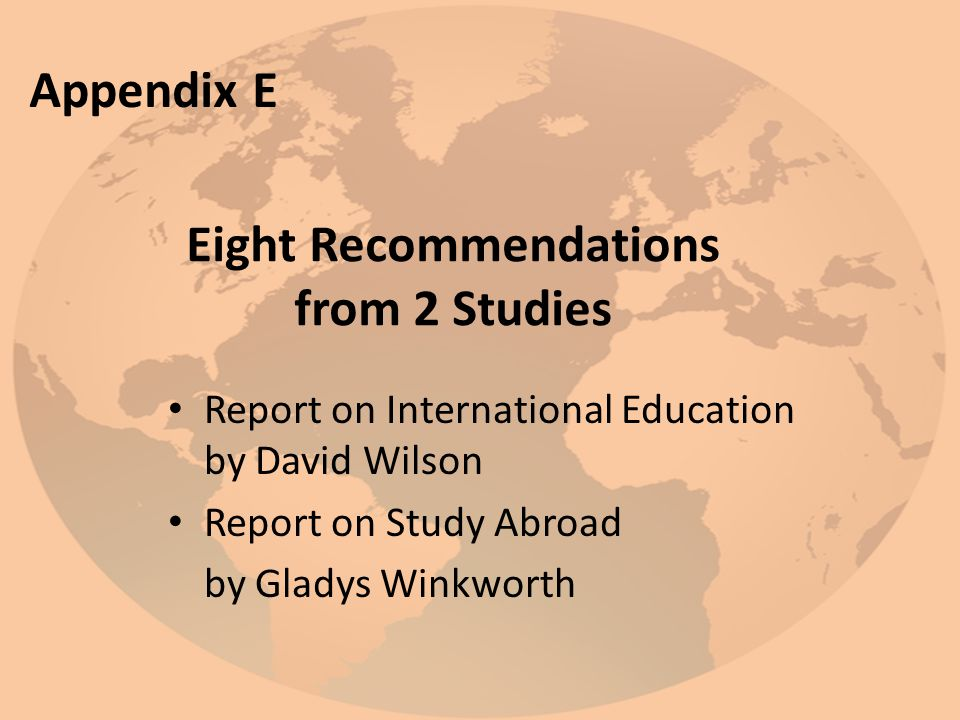 Eight Recommendations from 2 Studies