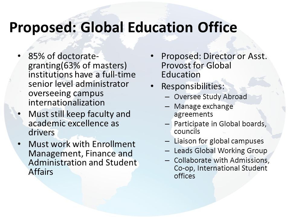 Proposed: Global Education Office