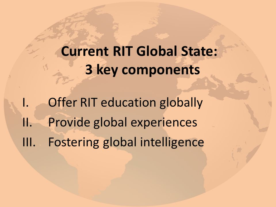 Current RIT Global State: 3 key components