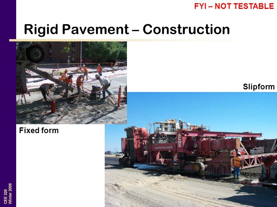 Rigid Pavement – Construction