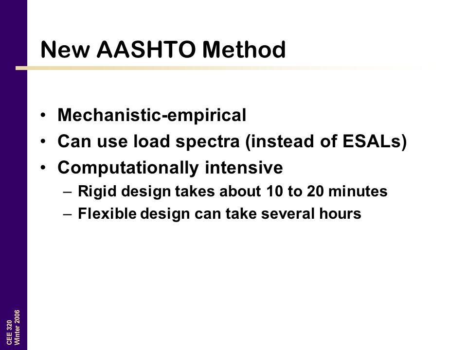 New AASHTO Method Mechanistic-empirical