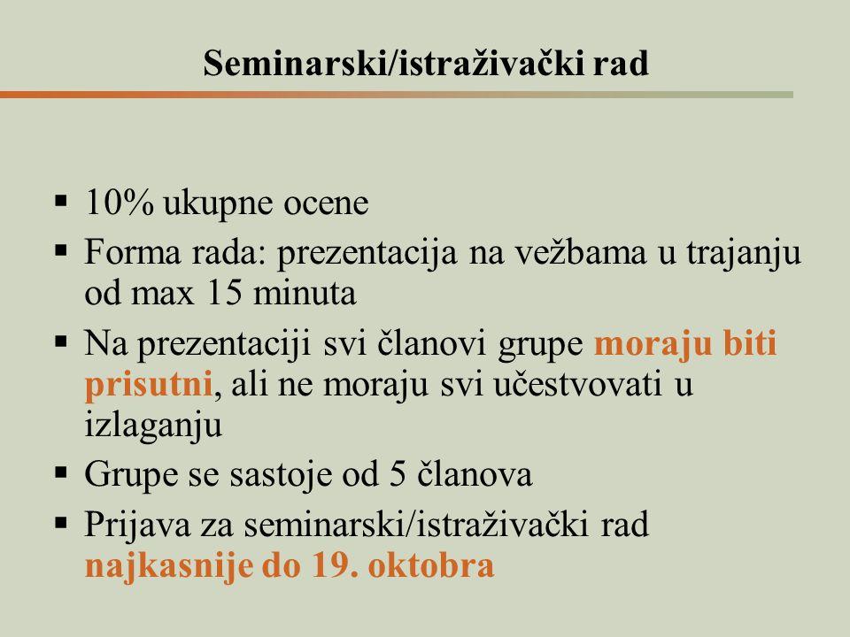 Seminarski/istraživački rad