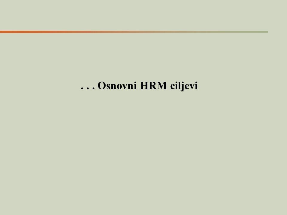 . . . Osnovni HRM ciljevi