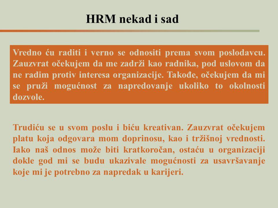 HRM nekad i sad