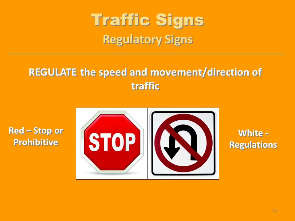 Traffic Signs Regulatory Signs