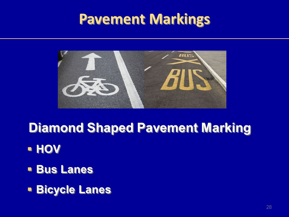 Diamond Shaped Pavement Marking
