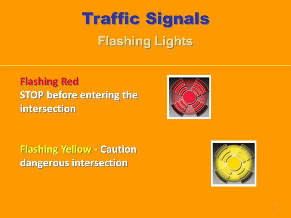 Traffic Signals Flashing Lights Flashing Red