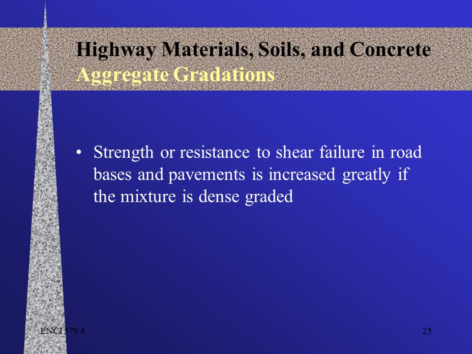Highway Materials, Soils, and Concrete Aggregate Gradations