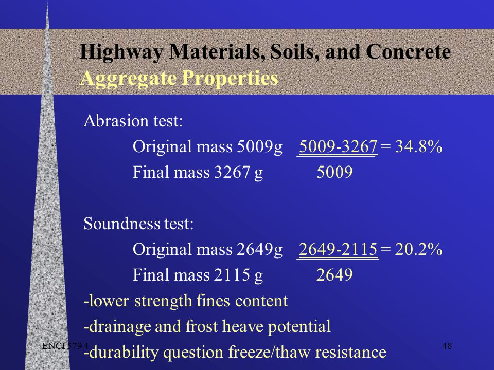 Highway Materials, Soils, and Concrete Aggregate Properties