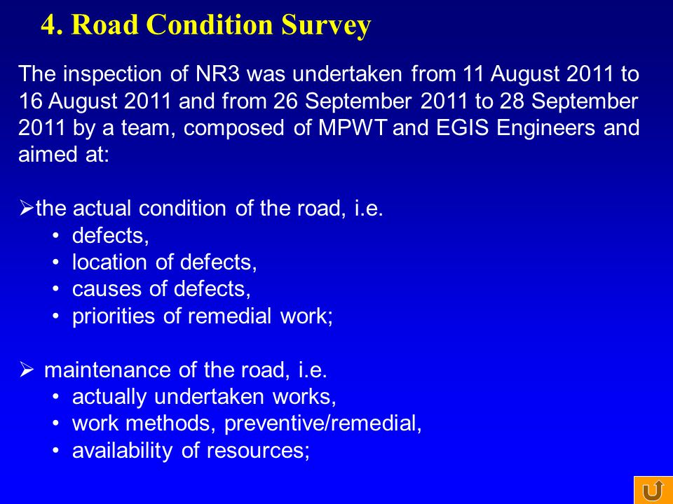 4. Road Condition Survey