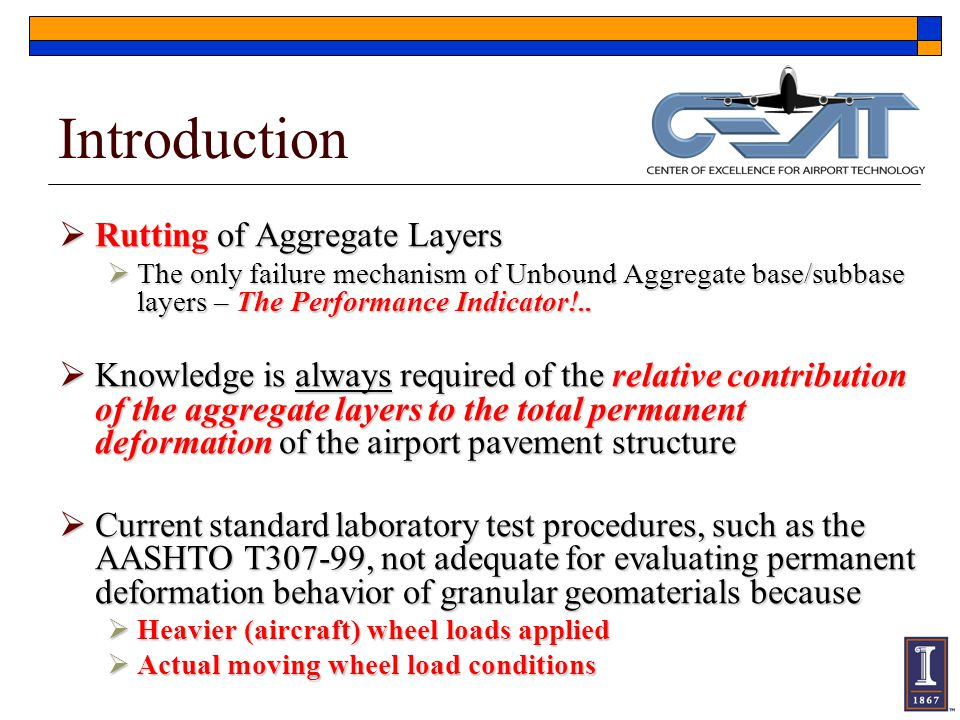 Introduction Rutting of Aggregate Layers