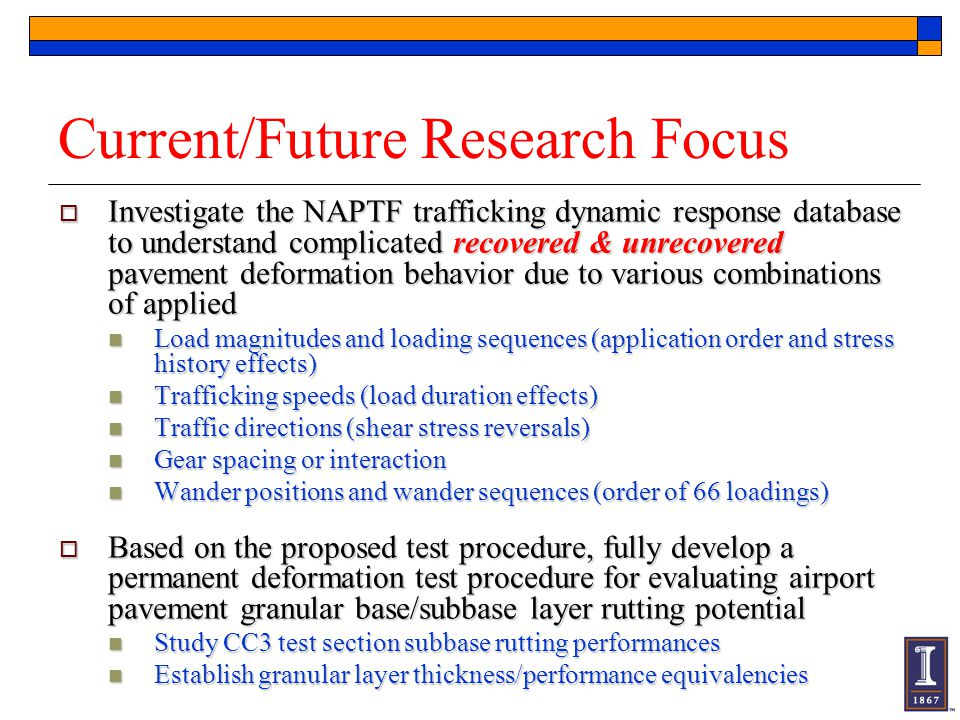 Current/Future Research Focus