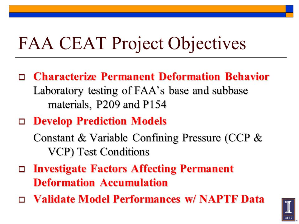 FAA CEAT Project Objectives