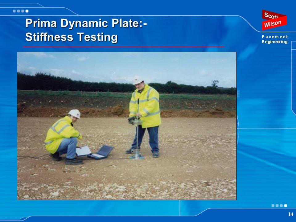 Prima Dynamic Plate:- Stiffness Testing