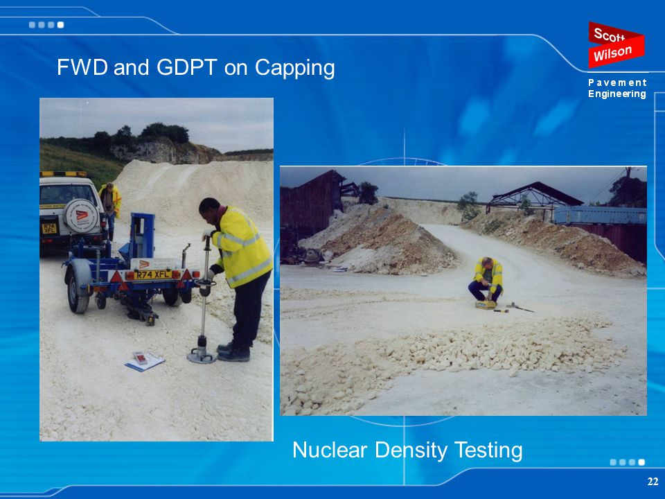 FWD and GDPT on Capping Nuclear Density Testing