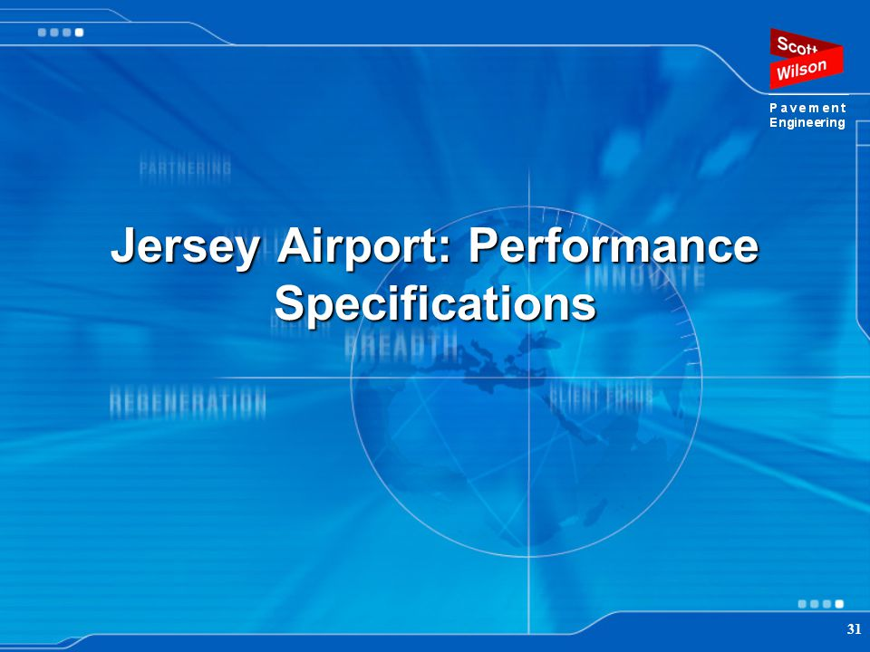 Jersey Airport: Performance Specifications