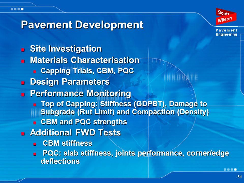 Pavement Development Site Investigation Materials Characterisation