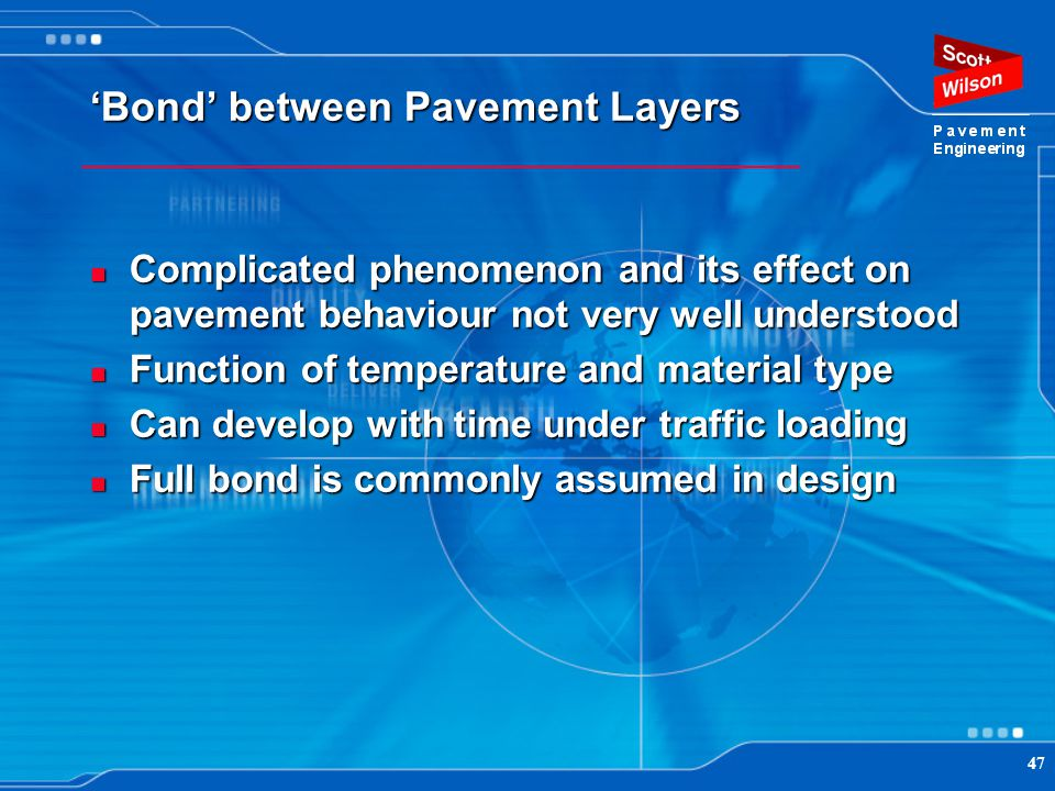 'Bond' between Pavement Layers
