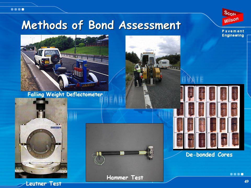 Methods of Bond Assessment